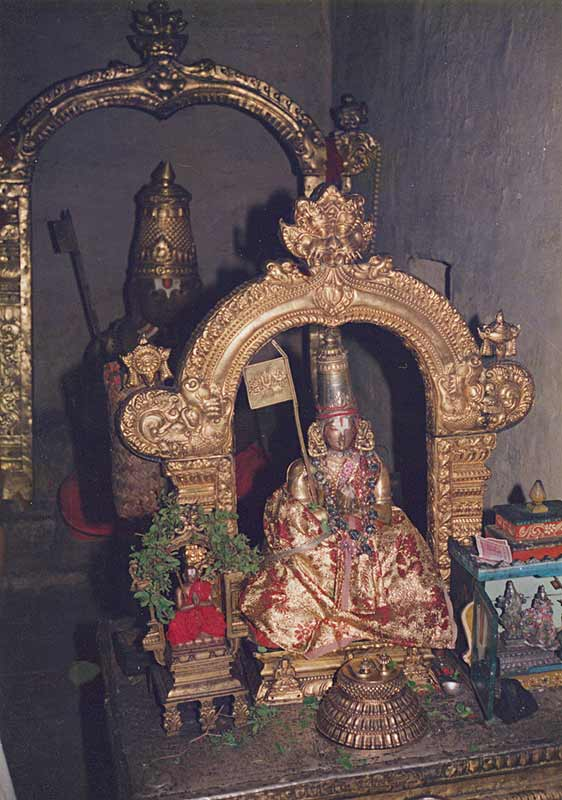 Ramanuja in a Temple
